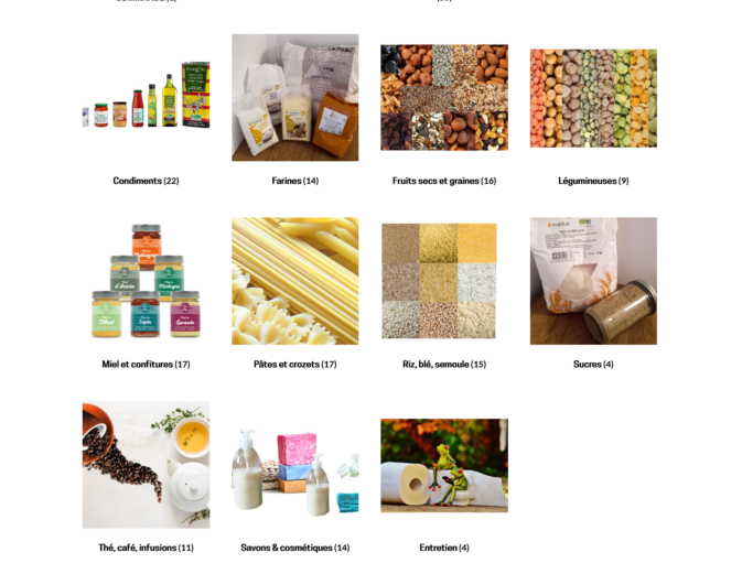 Page d'accueil du site de commerce la Soupe aux Cailloux
