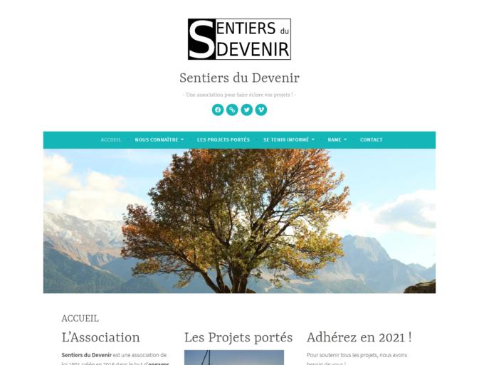 Page d'accueil Asso Sentiers du Devenir
