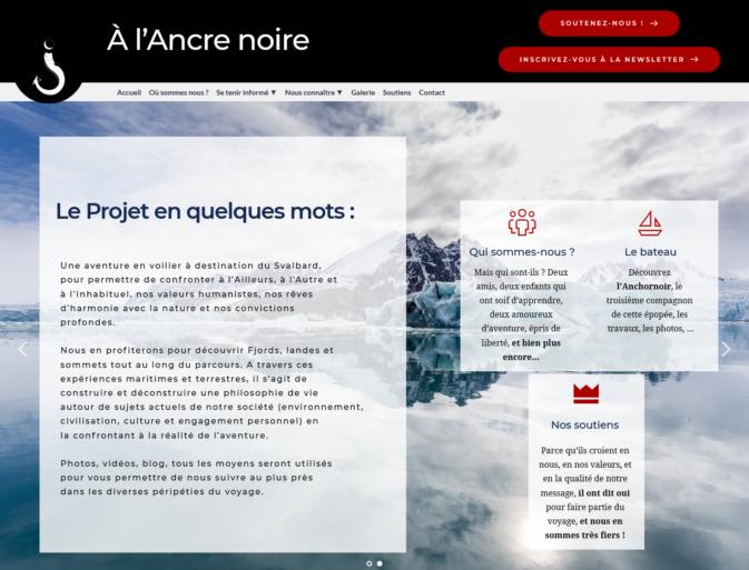 Site Al'Ancre Noire, projet de voyage