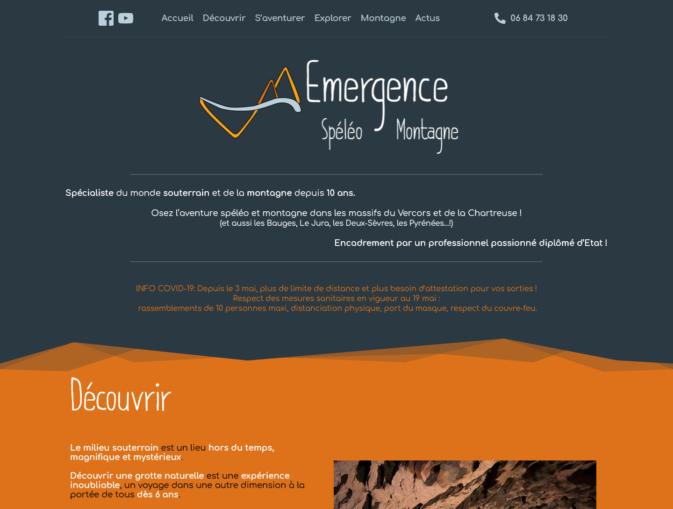 Site emergence Speleo